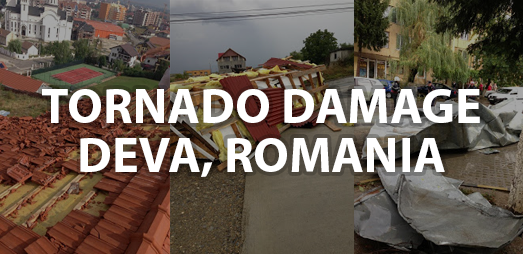 Tornado in Deva, Romania